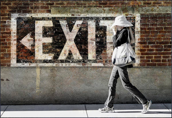 Photograph - Exit by Rick Mosher