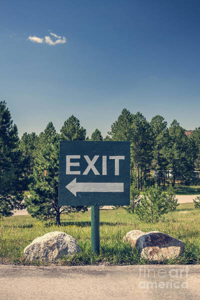 Photograph - Exit Sign by Bryan Mullennix