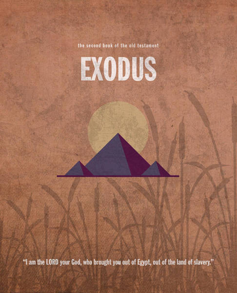 Egypt Mixed Media - Exodus Books Of The Bible Series Old Testament Minimal Poster Art Number 2 by Design Turnpike