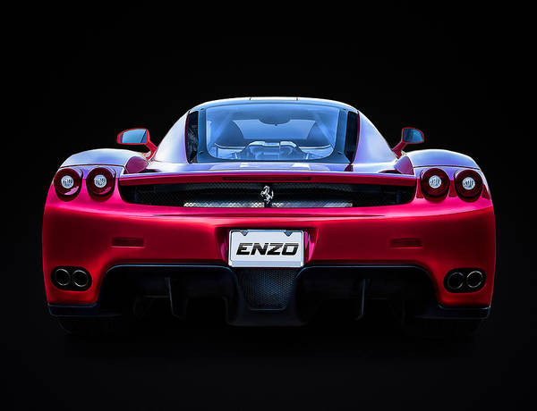 Ferrari Wall Art - Digital Art - Exotic Ferrari Enzo by Douglas Pittman