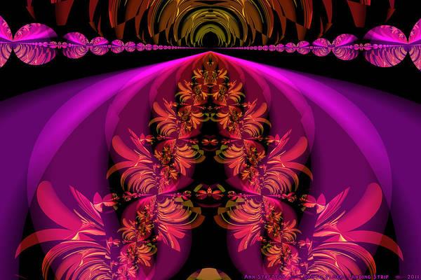 Digital Art - Exotic Floral Landing Strip  by Ann Stretton