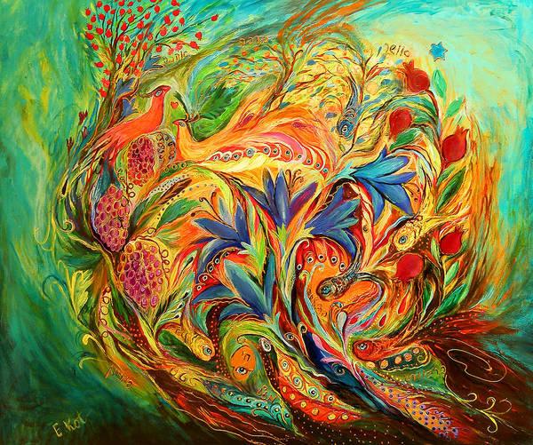 Kaballah Wall Art - Painting - Exotic Flowers by Elena Kotliarker