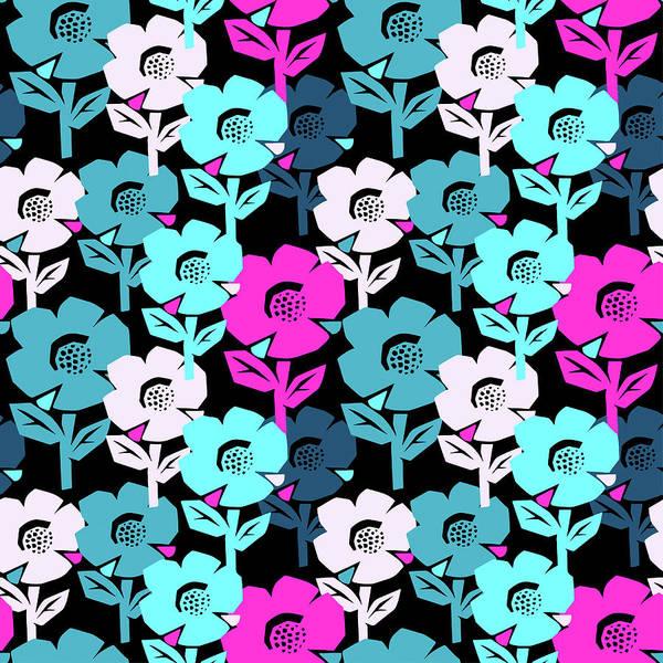 Digital Art - Exotic Flowers Seamless Pattern by Olgalis