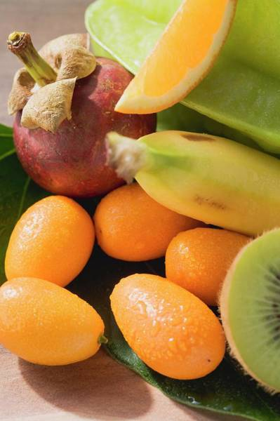 Wall Art - Photograph - Exotic Fruit And Citrus Fruit by Foodcollection