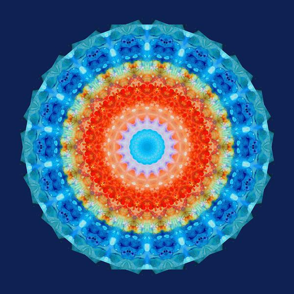 Kaleidoscope Wall Art - Painting - Expanding Energy 1 - Mandala Art By Sharon Cummings by Sharon Cummings