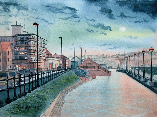 Bridlington Painting - Expanse Hotel And South Promenade In Bridlington by Glenn Marshall