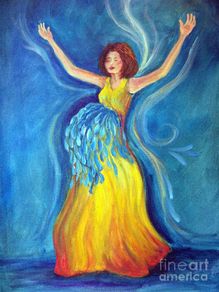 Scriptural Painting - Expectancy by Deborah Smith