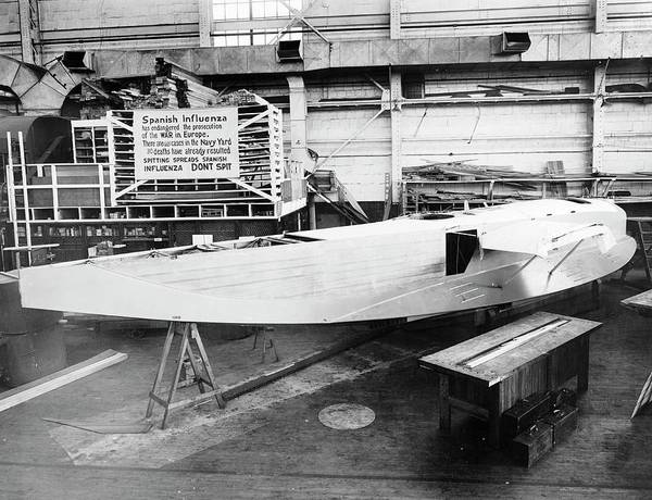 Wall Art - Photograph - Experimental F6l Flying Boat Under Construction by Us Navy/science Photo Library