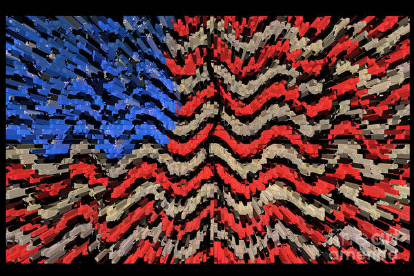 Time Frame Photograph - Exploding With Patriotism by John Farnan