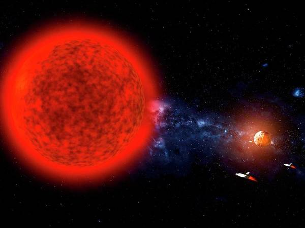 Extraterrestrial Life Photograph - Exploration Of A Red Dwarf Star System by Ramon Andrade 3dciencia/science Photo Library