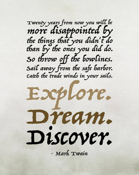 Wall Art - Painting - Explore, Dream, Discover by Tara Moss