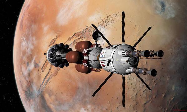 Explorer At Mars Part 1 Art Print