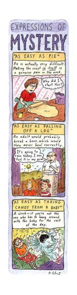Food Coloring Drawing - Expressions Of Mystery by Roz Chast