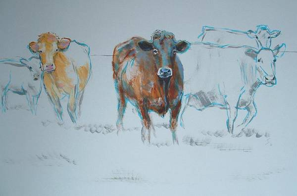 Painting - Expressive Cow Painting by Mike Jory