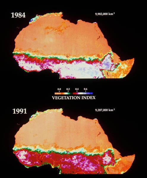 Sahara Photograph - Extent Of The Sahara Desert Compared by Nasa Gsfc/science Photo Library