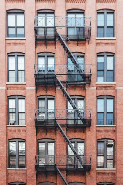 Exterior Of Buildings In New York City Art Print by Deimagine