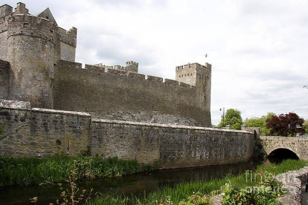 Suir Photograph - Exterior Of Cahir Castle by Christiane Schulze Art And Photography
