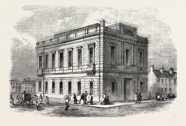Manchester Drawing - Exterior Of The Manchester Free Library by English School
