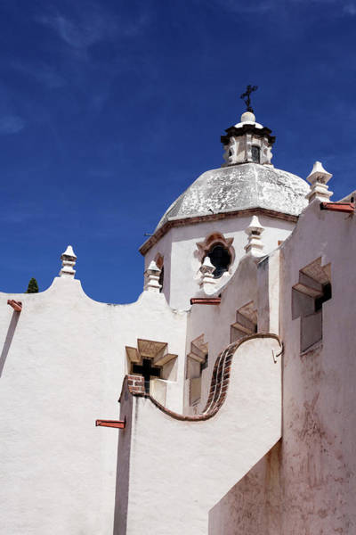 Adobe Photograph - Exterior View Of A Church In San Miguel by Julien Mcroberts