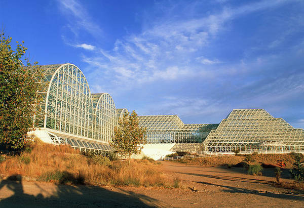 Ecosystem Photograph - External View Of Biosphere 2 by Martin Bond/science Photo Library