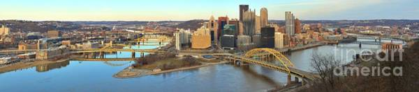 Photograph - Extra Wide Pittsburgh Spring Panorama by Adam Jewell