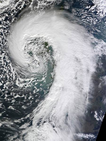 Cyclone Wall Art - Photograph - Extratropical Cyclone by Nasa Earth Observatory