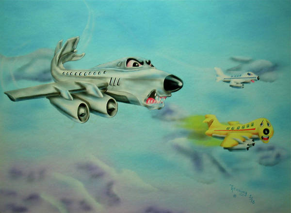 Painting - Extreme Airline Mergers by Thomas J Herring