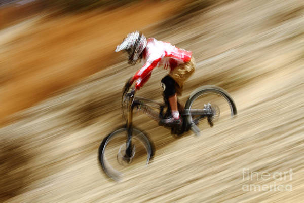 Photograph - Extreme Downhill Cycling by James Brunker