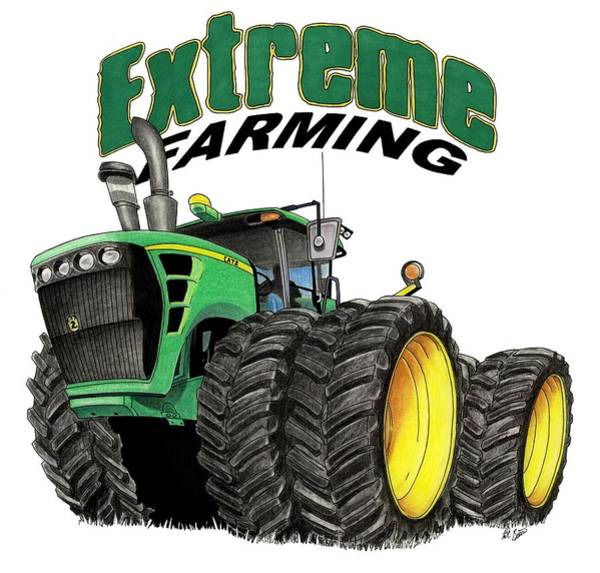 Wall Art - Mixed Media - Extreme Farming by Lyle Brown
