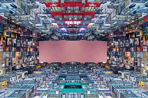 Wall Art - Photograph - Extreme Housing In Hong Kong by Lars Ruecker