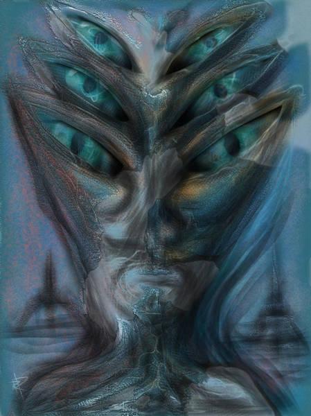 Space Ship Mixed Media - Eye C U by Russell Pierce