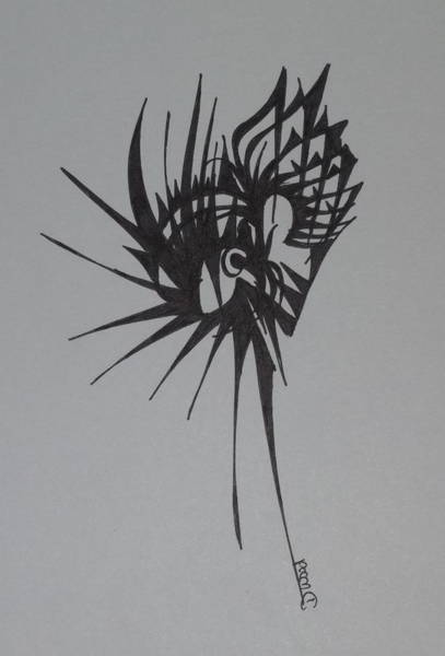 Organic Abstraction Drawing - Eye by D Wood