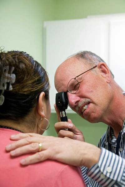 Diagnose Photograph - Eye Examination by Jim West