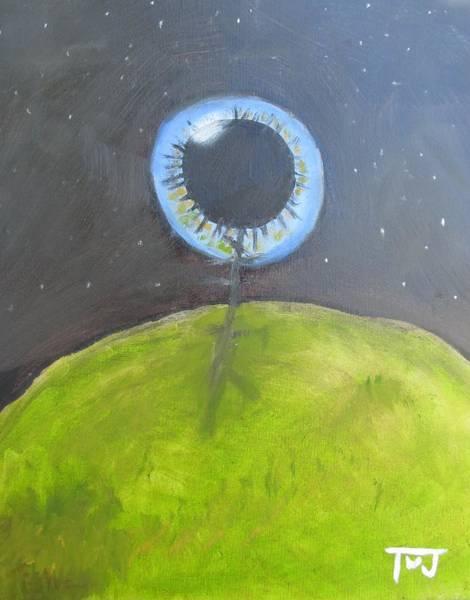 Psychosis Painting - Eye In The Sky by Tim Webb