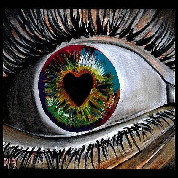 Wall Art - Photograph - Eye Love You by Artist RiA