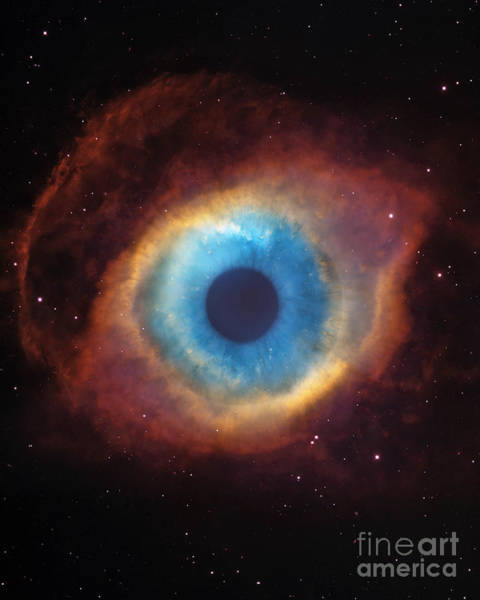 Photograph - Eye Of God In The Helix Nebula by Mike Agliolo