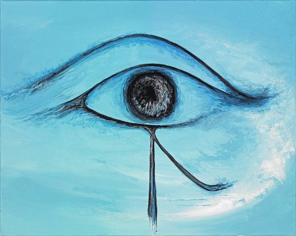 Wall Art - Painting - Eye Of Horus In The Sky by David Junod