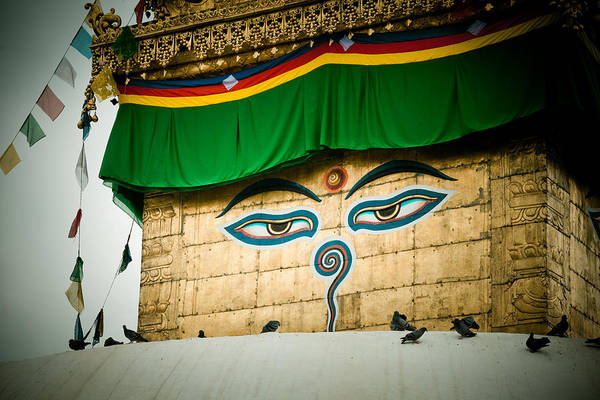 Photograph - Eye Of Swayambhunath Stupa Kathmandu by Raimond Klavins