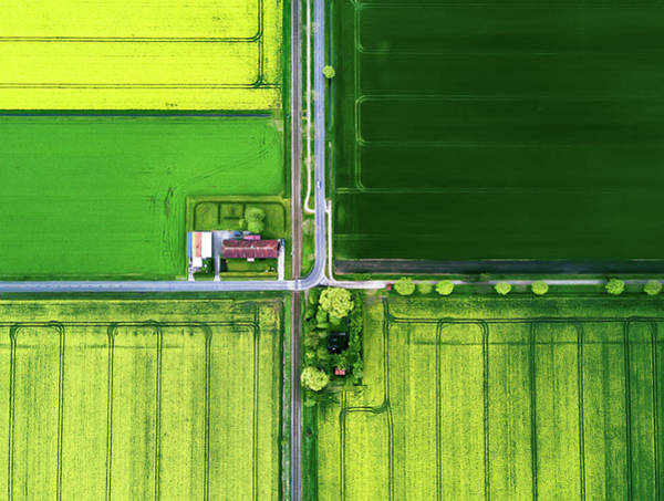Farmhouse Photograph - Eye Of The Sky by Zhou Chengzhou