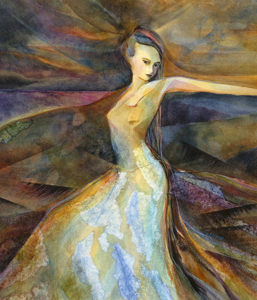 Twirl Painting - Eye Of The Storm by Jen Norton