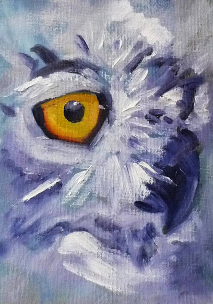 Nocturnal Wall Art - Painting - Eye On You by Nancy Merkle