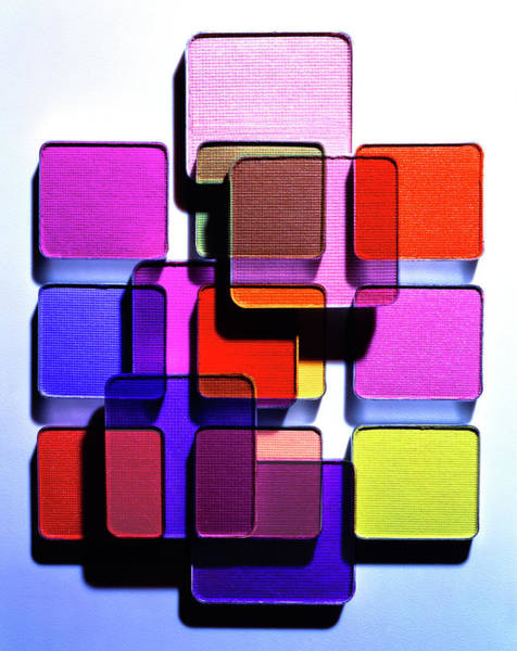 Palette Photograph - Eye Shadow Palettes by Derek Lomas/science Photo Library