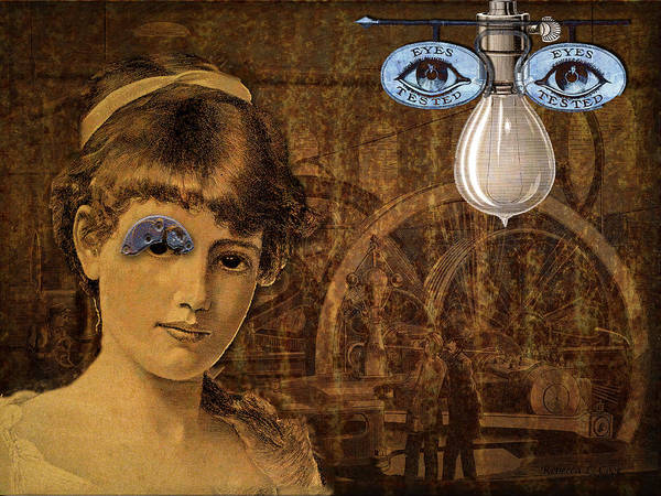 Digital Art - Eye Test Steampunk by Bellesouth Studio