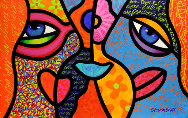 Wall Art - Painting - Eye To Eye by Steven Scott