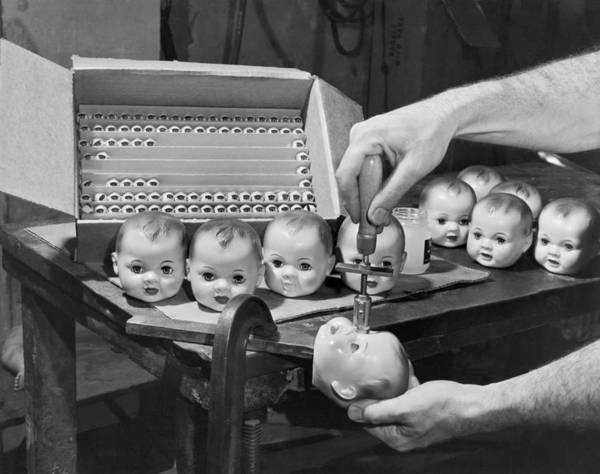 Appearance Photograph - Eyeballs Put In A Doll Head by Underwood Archives