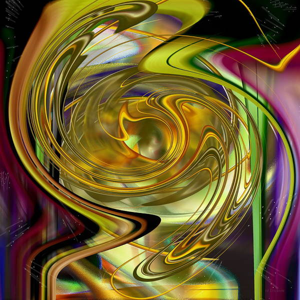 Digital Art - Eyeing A New World - Digital Illustration by Roy Erickson