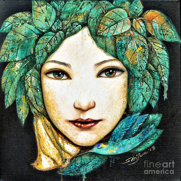 Painting - Eyes Of The Forest by Shijun Munns