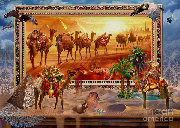 Egypt Digital Art - Eygptian Scene by MGL Meiklejohn Graphics Licensing
