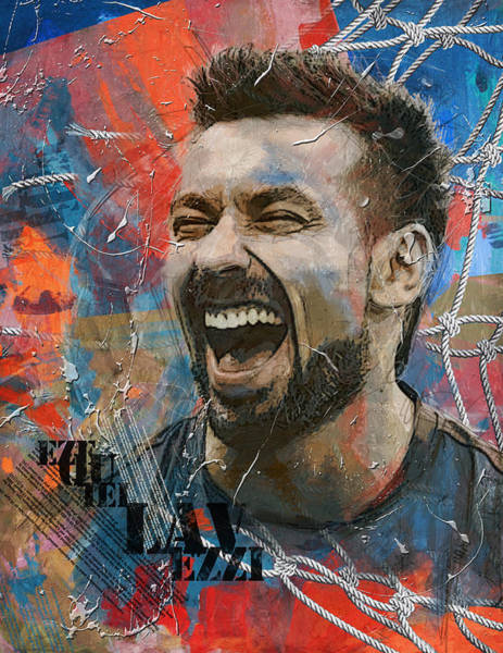 Wall Art - Painting - Ezequiel Lavezzi - B by Corporate Art Task Force
