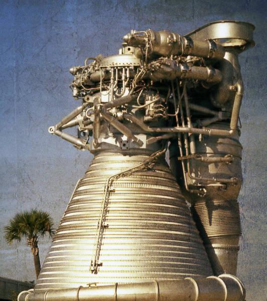 Engine Mixed Media - F-1 Rocket Engine by Richard Rizzo